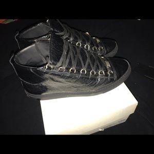 Balenciaga Shoes - Balenciaga High Top Black Arenas